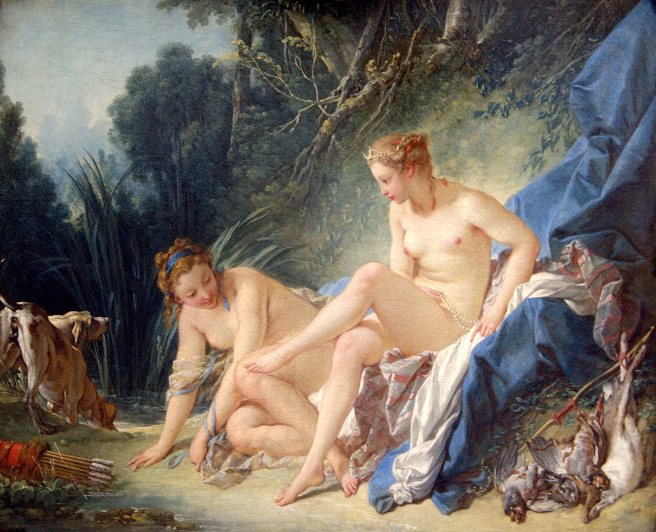 Diana Leaving Her Bath (1742) - François Boucher