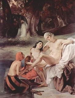 Bathsheba in the Bath (1834) - Francesco Hayez