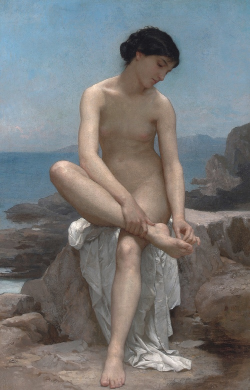 The Bather (1874) - William-Adolphe Bouguereau
