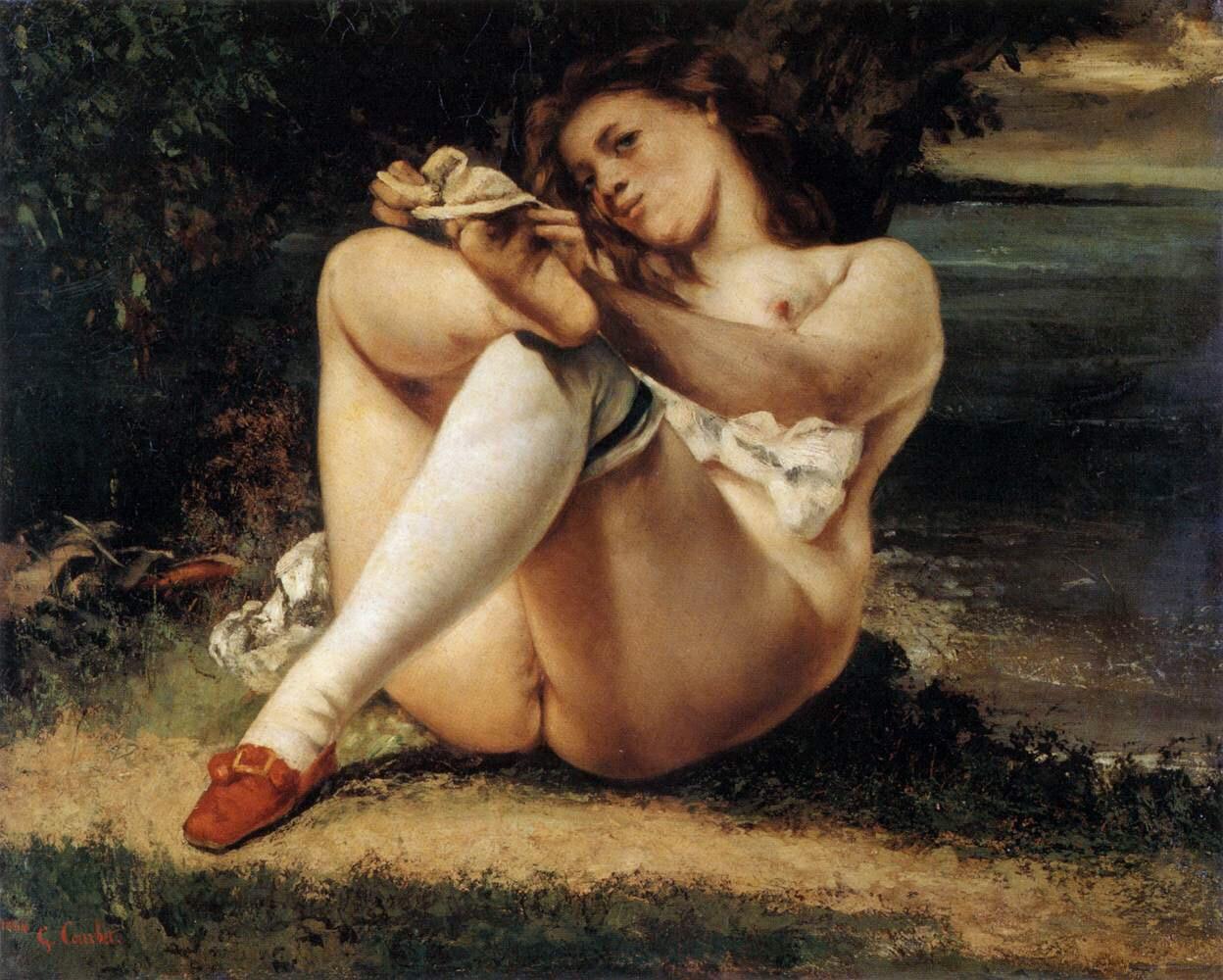 La Femme aux bas blancs (1864) - Gustave Courbet