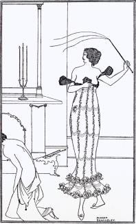 Illustration for Earl Lavender (1895) - Aubrey Beardsley