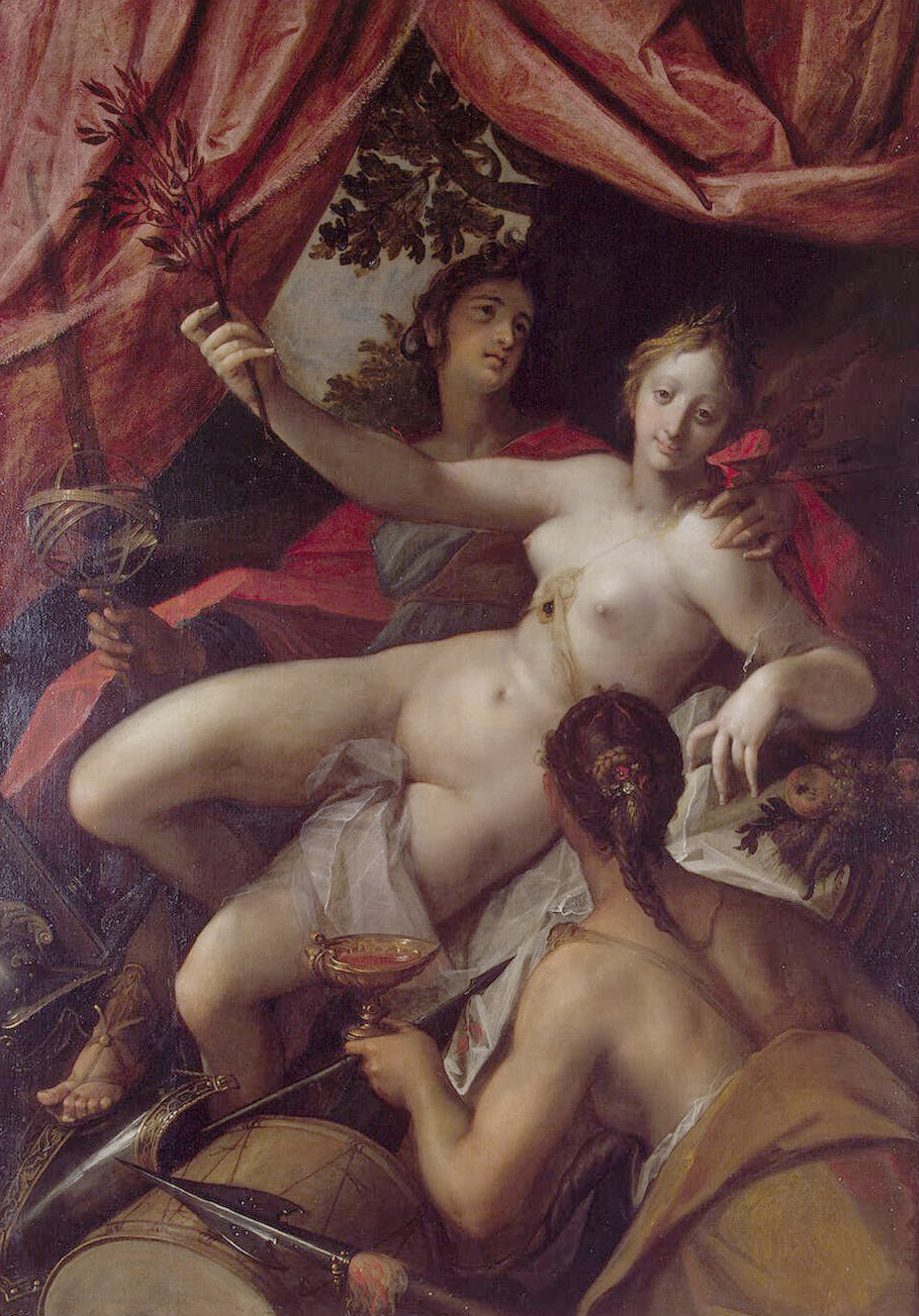 Allegory of Peace, Art, and Abundance (1602) - Hans von Aachen