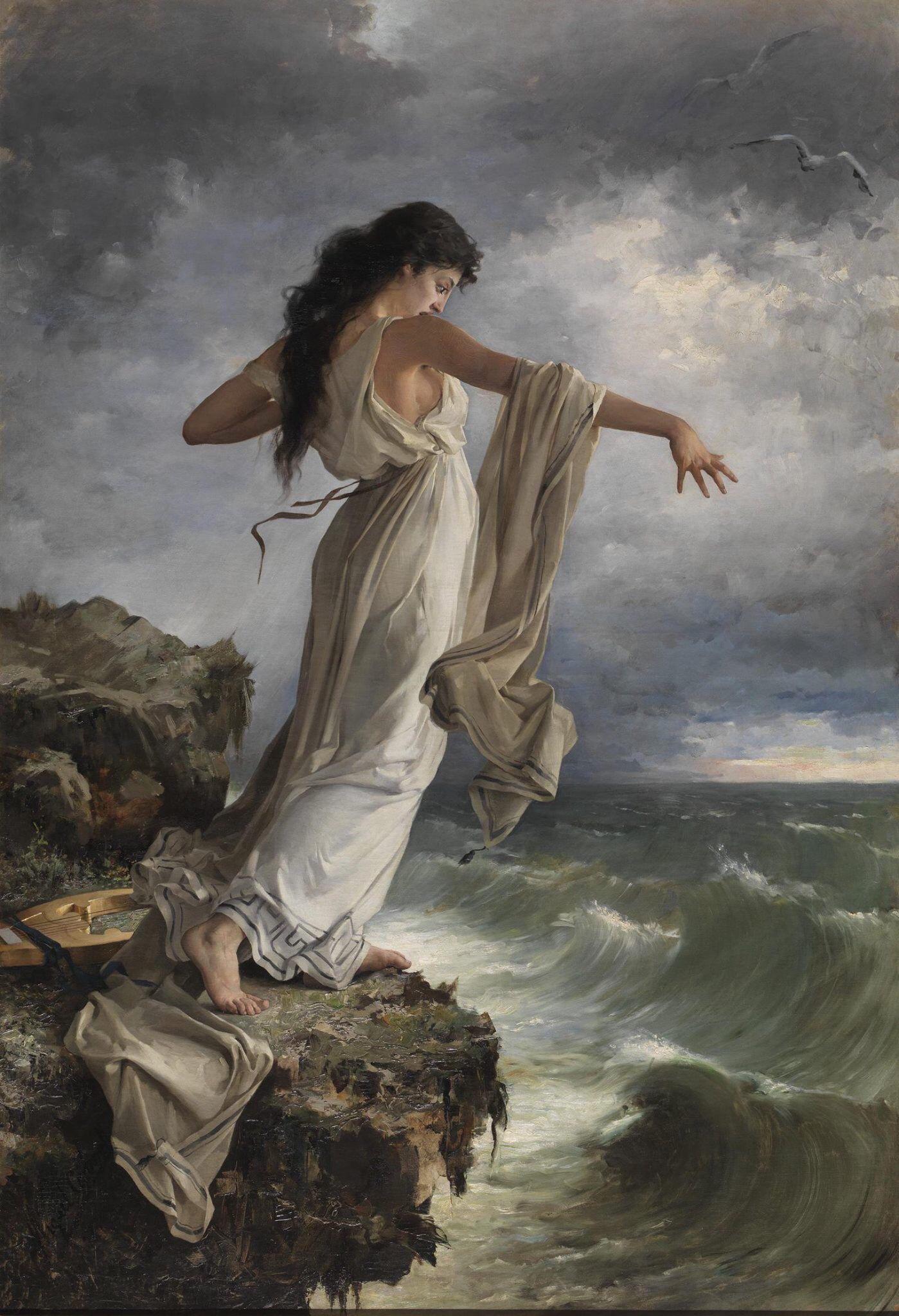 Sappho (c. 1885) - Miquel Carbonell i Selva