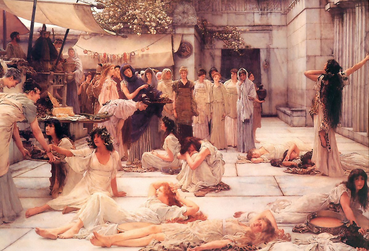 Women of Amphissa (1887) - Lawrence Alma-Tadema