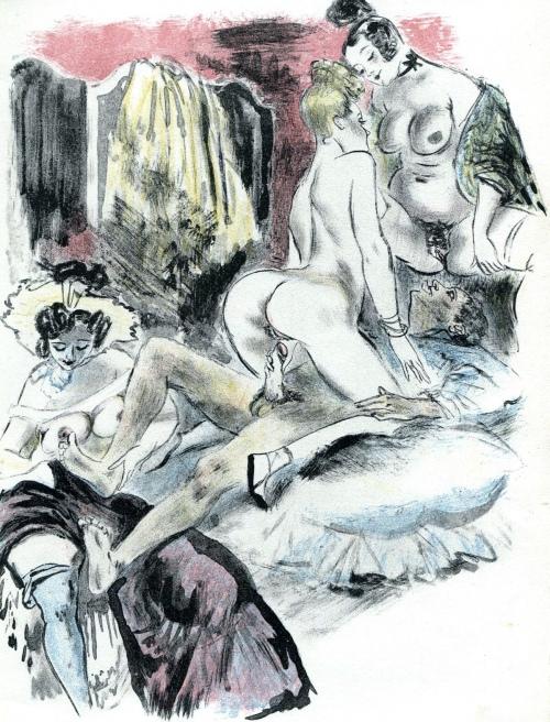 Illustration for Gamiani, ou Deux Nuits d'Excès (c. 1940) - Louis Berthomme Saint-André