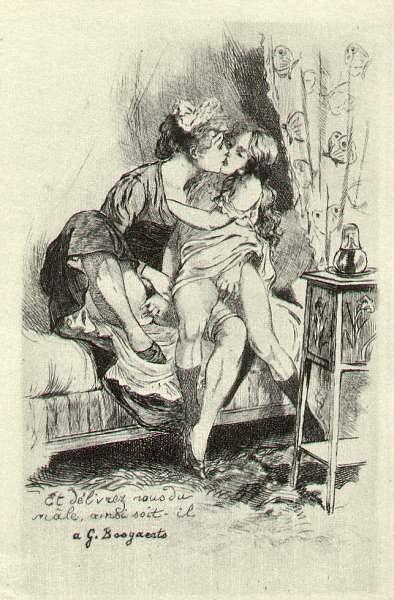 Illustration from Les Grandes Danse macabre des vifs. (1905) - Martin van Maële