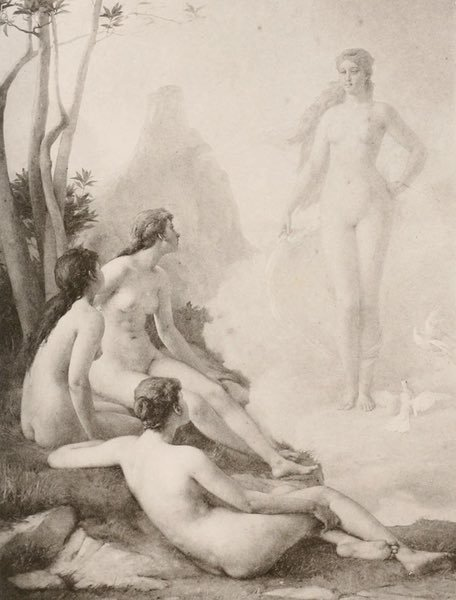 Nude Apparition Appears to Seated (1894) - Emmanuel Benner the Younger