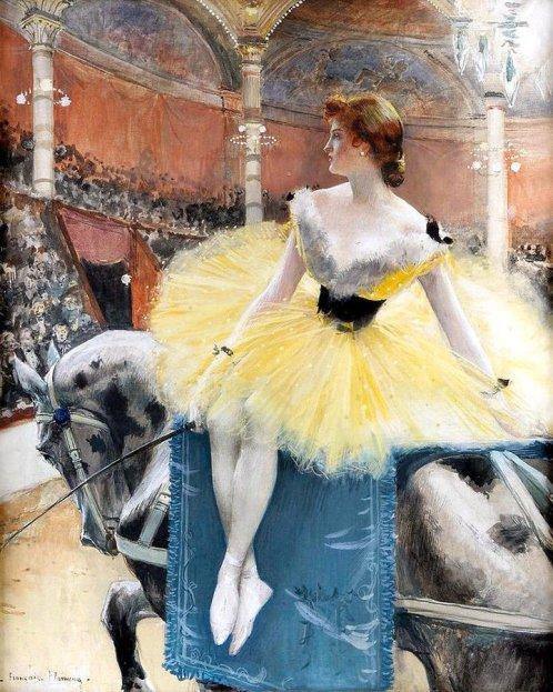 Equestrienne au Cirque Fernando (c. 1890) - François Flameng