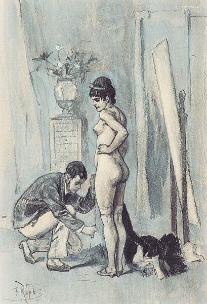 Le muscle du grand couturier (c. 1878-1881) - Félicien Rops
