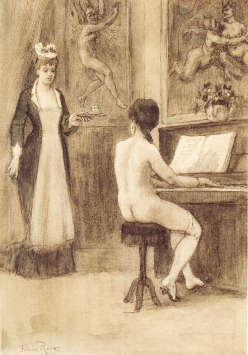 L'étude (1878-1881) - Félicien Rops