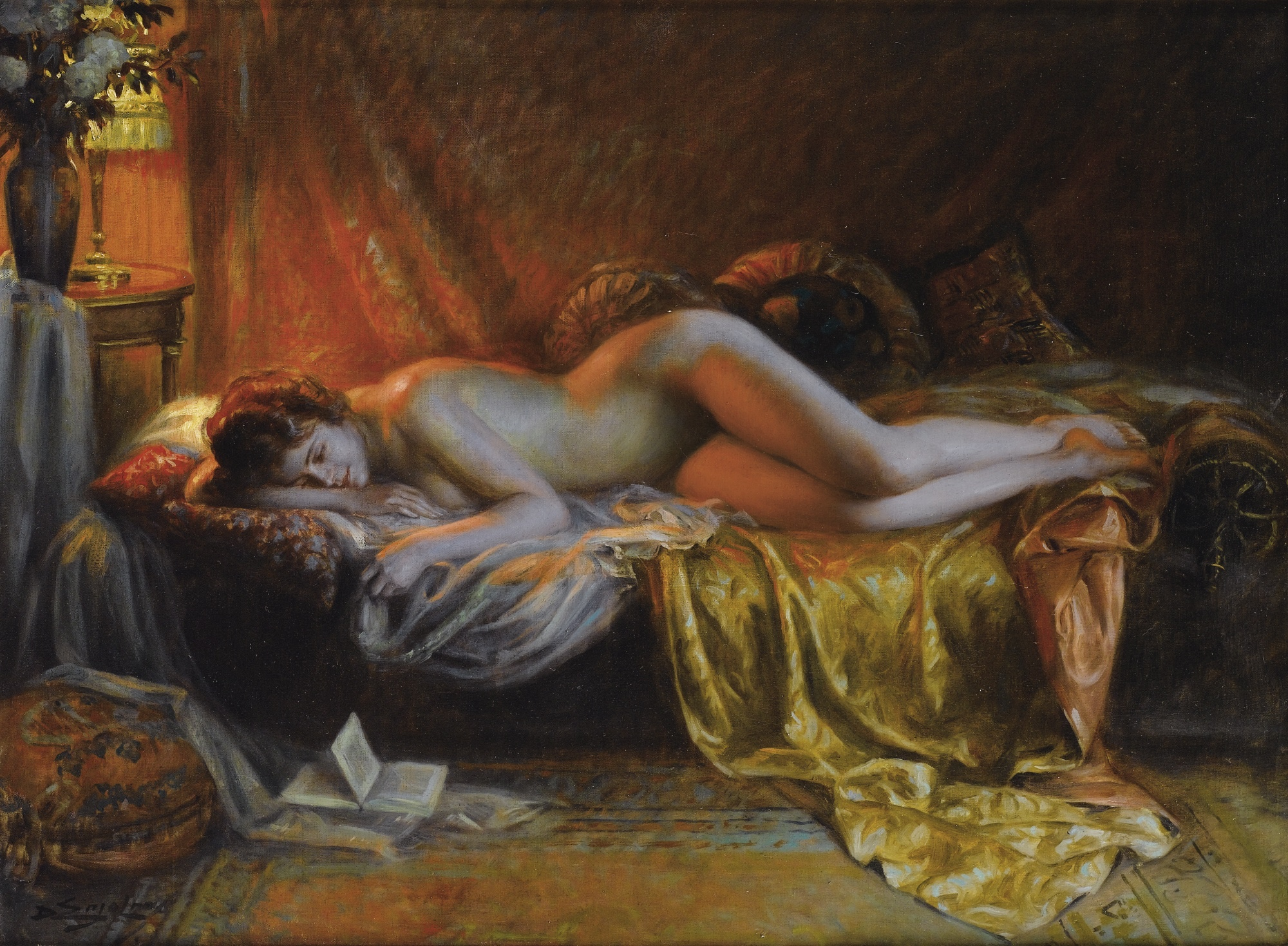 Just Finished Reading a Novel (c. 1918) - Delphin Enjolras