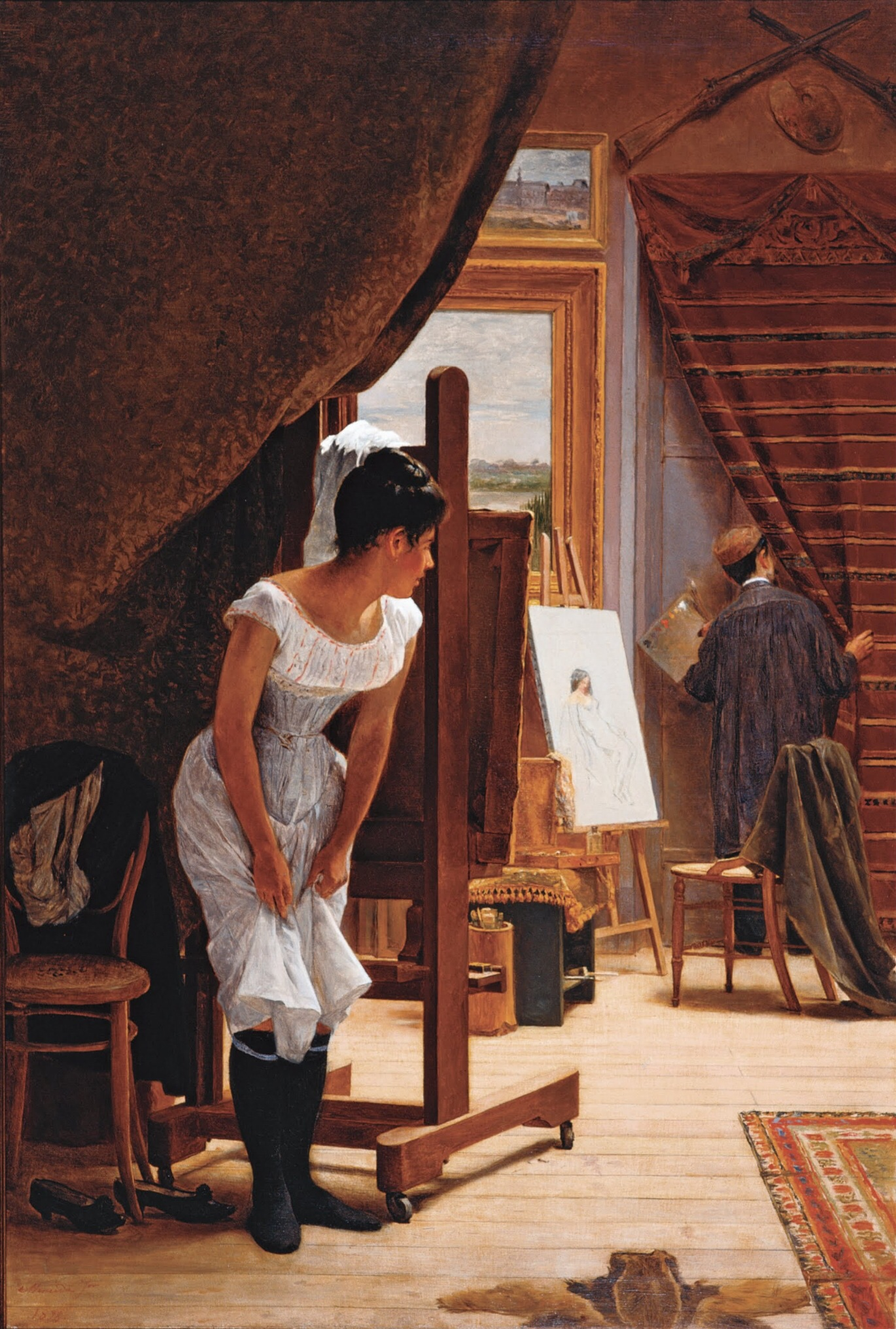 The Inopportune (1898) - José Ferraz de Almeida Júnior