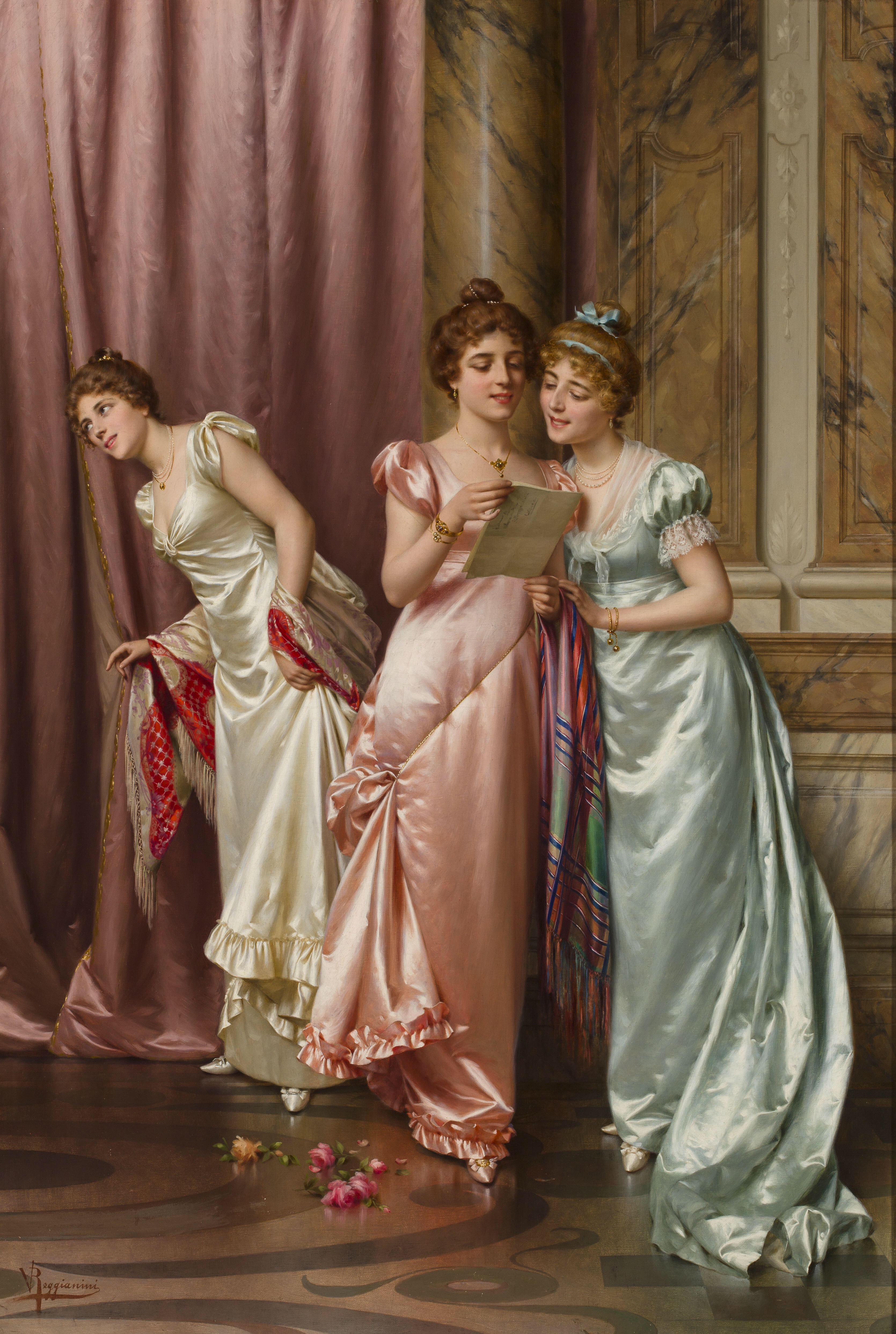 An Illicit Letter (late 1800s) - Vittorio Reggianini