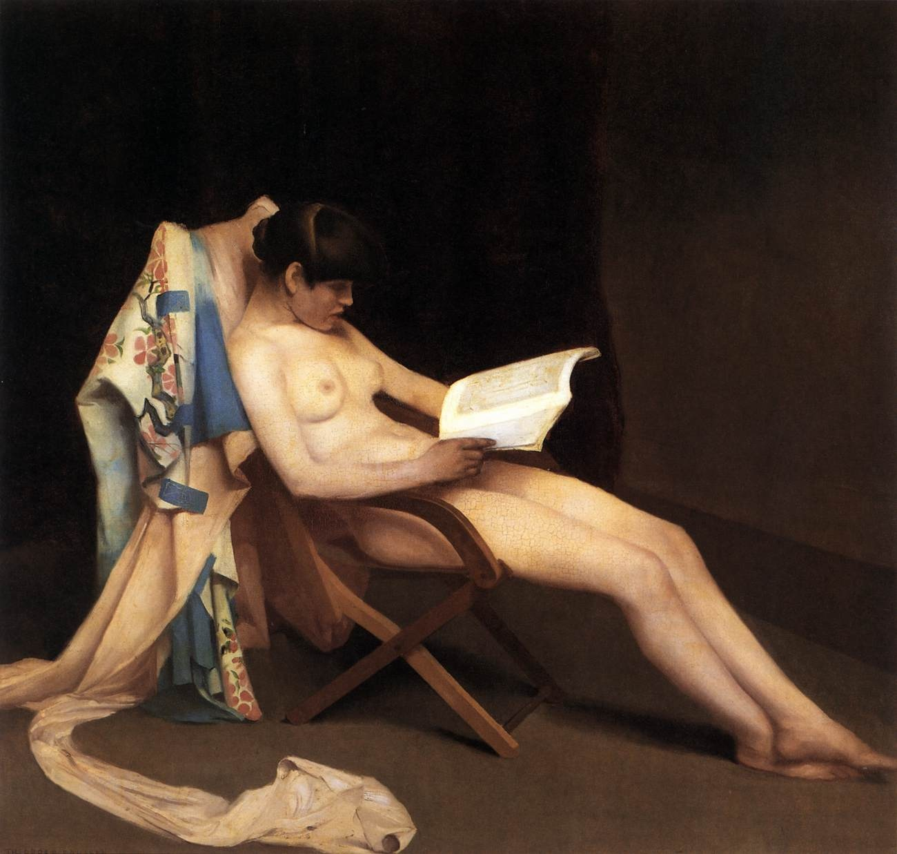The Reading Girl (1886) - Théodore Roussel