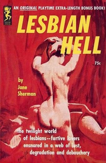 Cover_of_Lesbian_Hell_by_Jane_Sherman_-_Illustration_signed_Robert_Bonfils_-_Playtime_1963