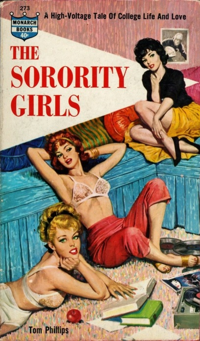 Cover_of_The_Sorority_Girls_by_Tom_Phillips_-_Cover_art_by_Rafael_DeSoto_-_Monarch_1962