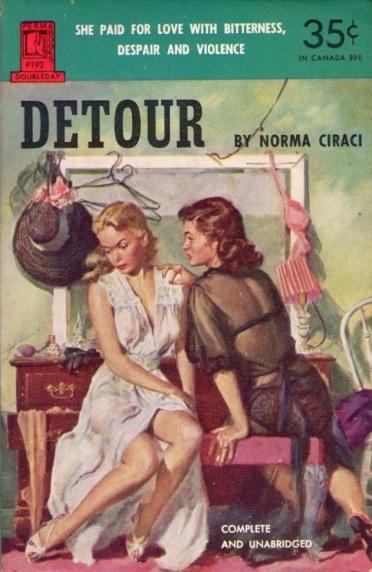 Detour_by_Norma_Ciraci_-_Illustration_by_Carl_Bobertz_-_Permabooks_P192_1952