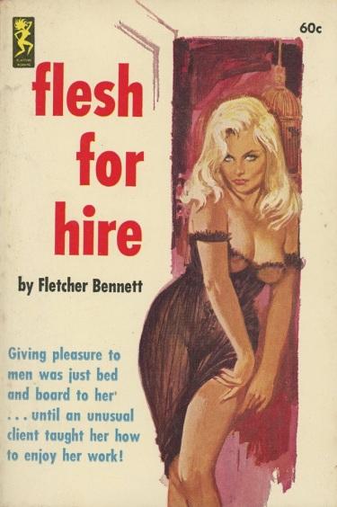 Flesh_For_Hire_by_Fletcher_Bennett_-_Illustration_by_Robert_Bonfils_-_Playtime_1963